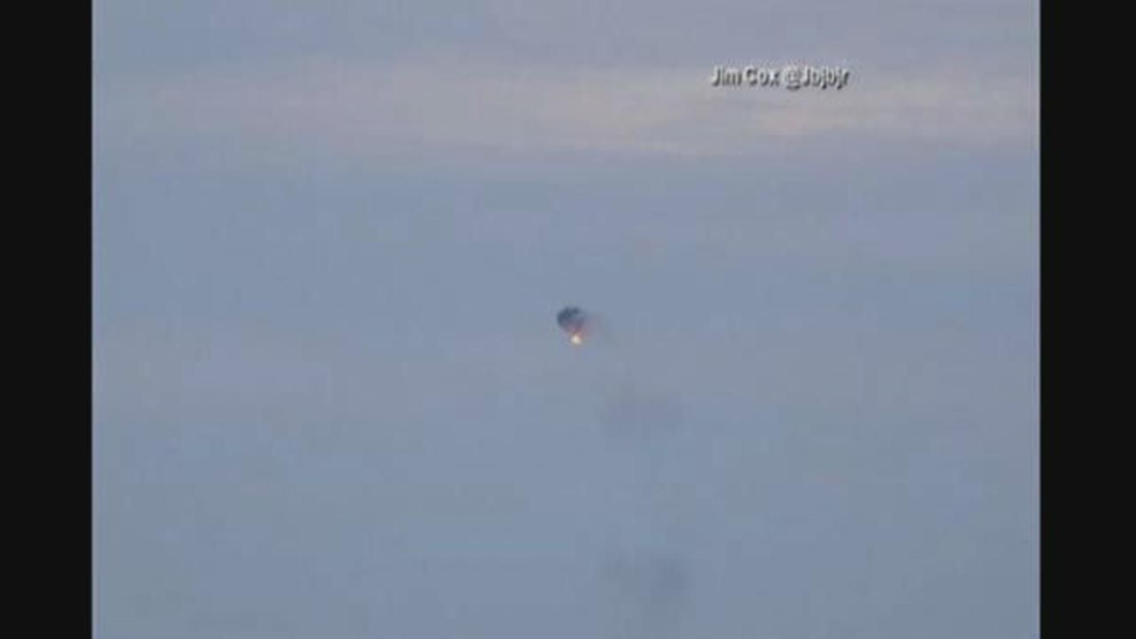 Pictures from hot air balloon fire and crash in Virginia