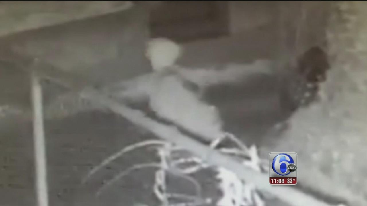 VIDEO: Burglar slips on ice while fleeing in Upper Darby