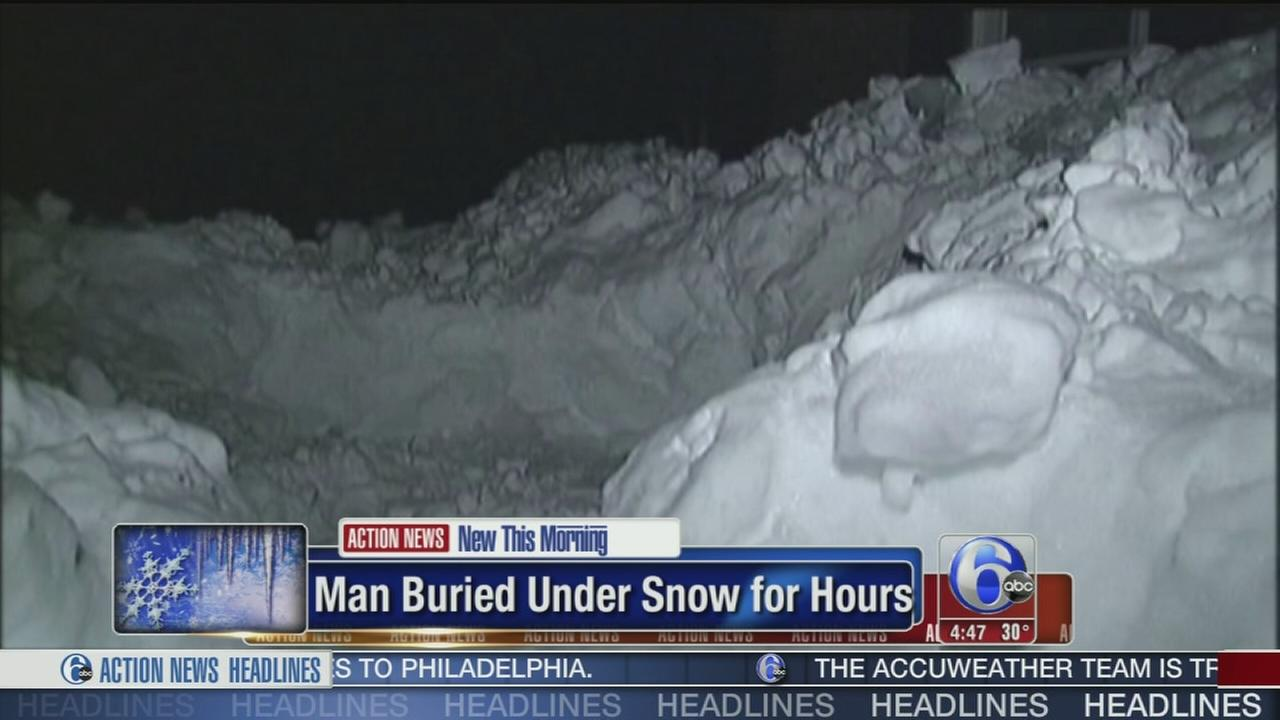 VIDEO: Man buried under 2 ft. of snow for hours