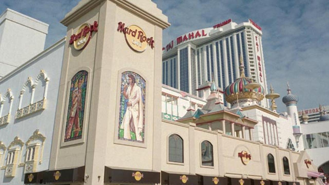 FILE - The Hard Rock Cafe at the Trump Taj Mahal in Atlantic City, N.J