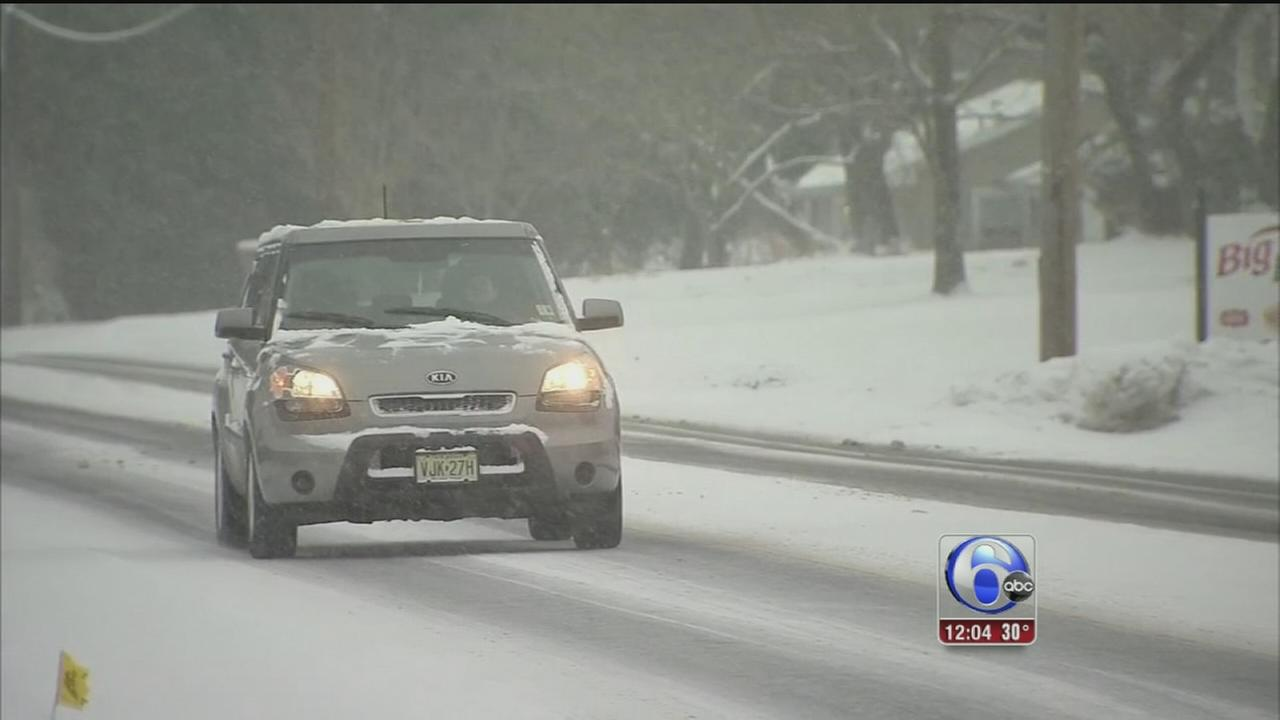 VIDEO: Eva Pilgrim reports on snow at the shore