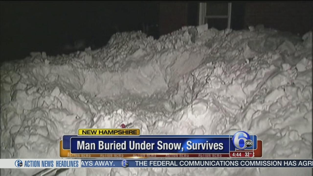 VIDEO: Man survives after being buried under two feet of snow