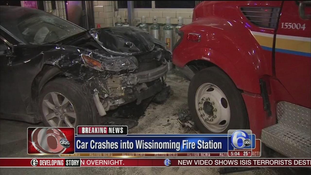 VIDEO: Driver crashes into fire station in Wissinoming