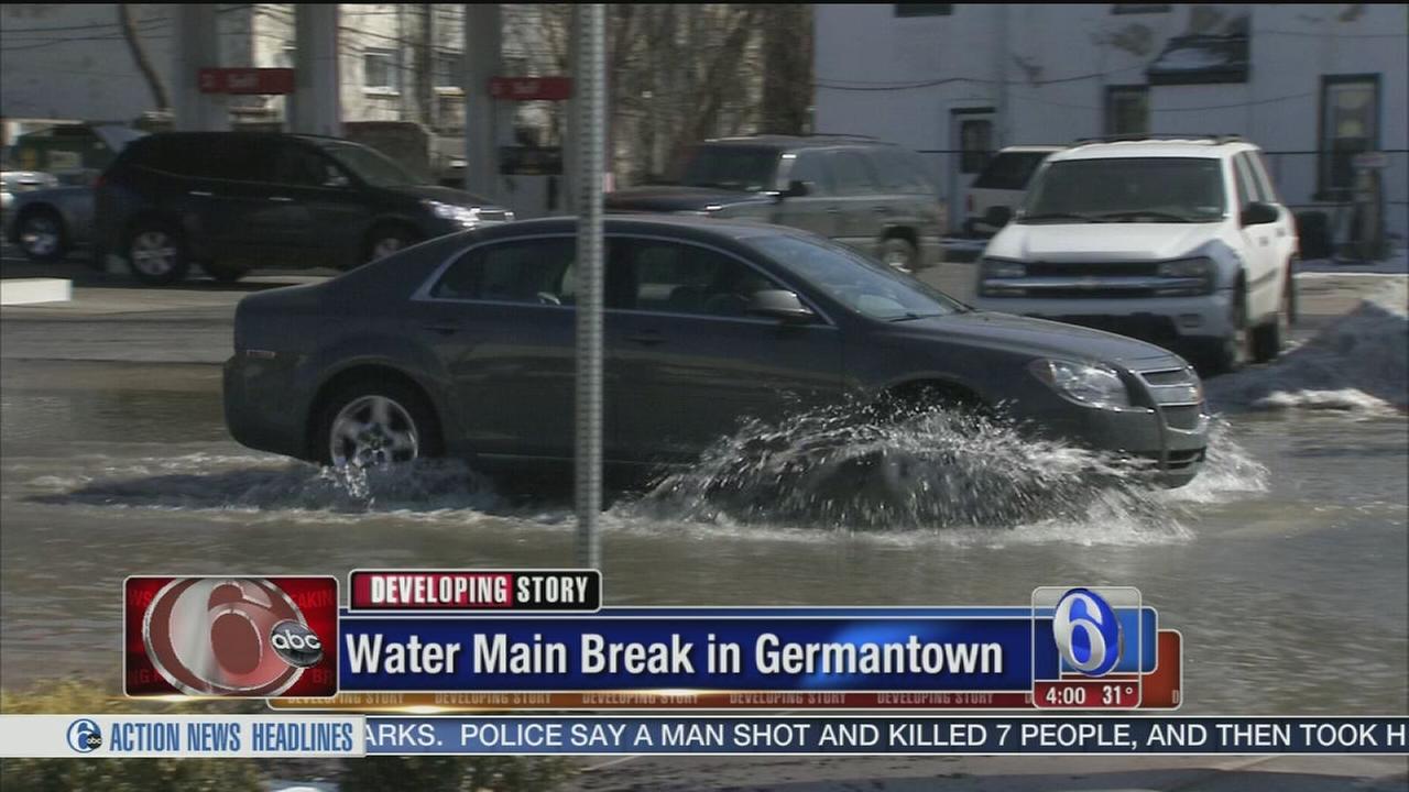 VIDEO: Water main break in Germantown