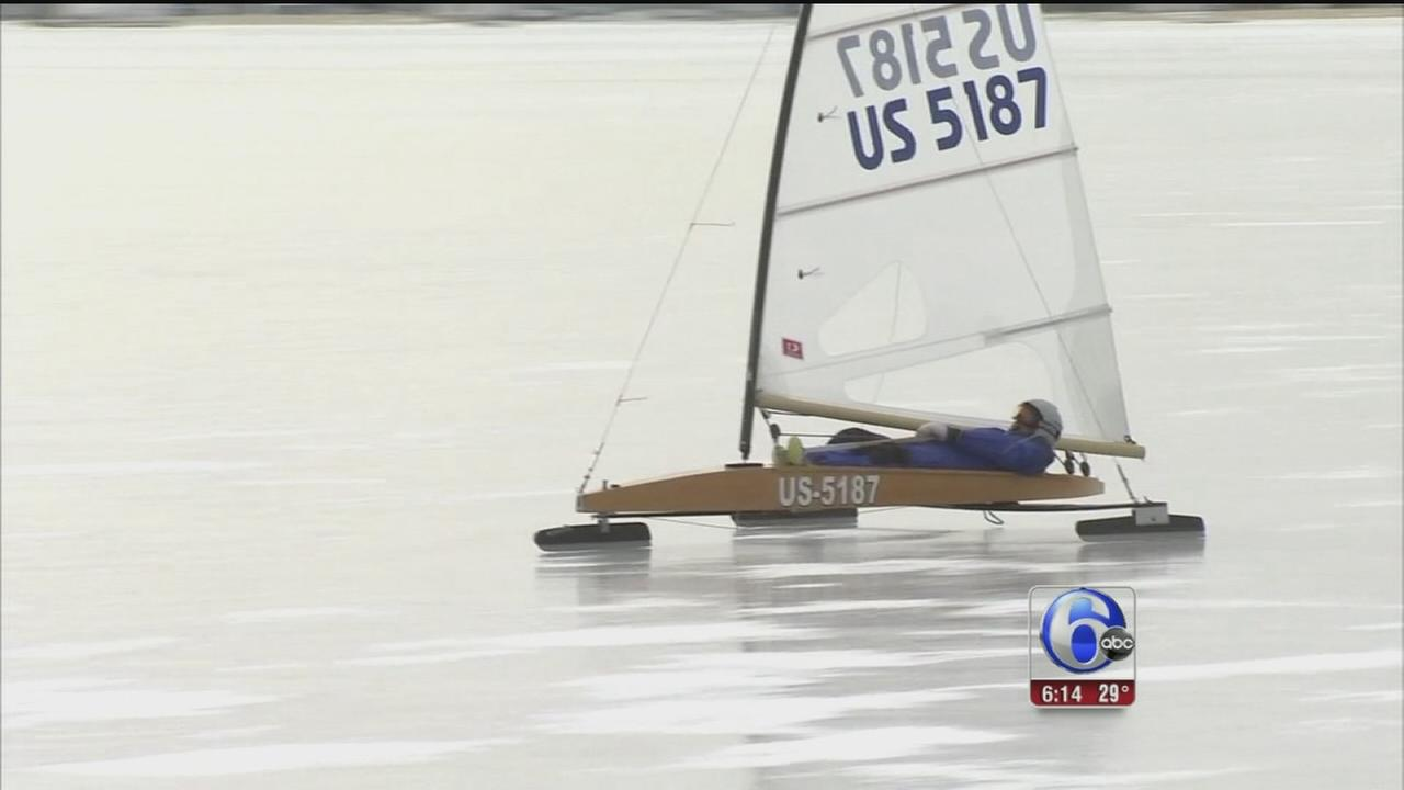 VIDEO: Iceboaters