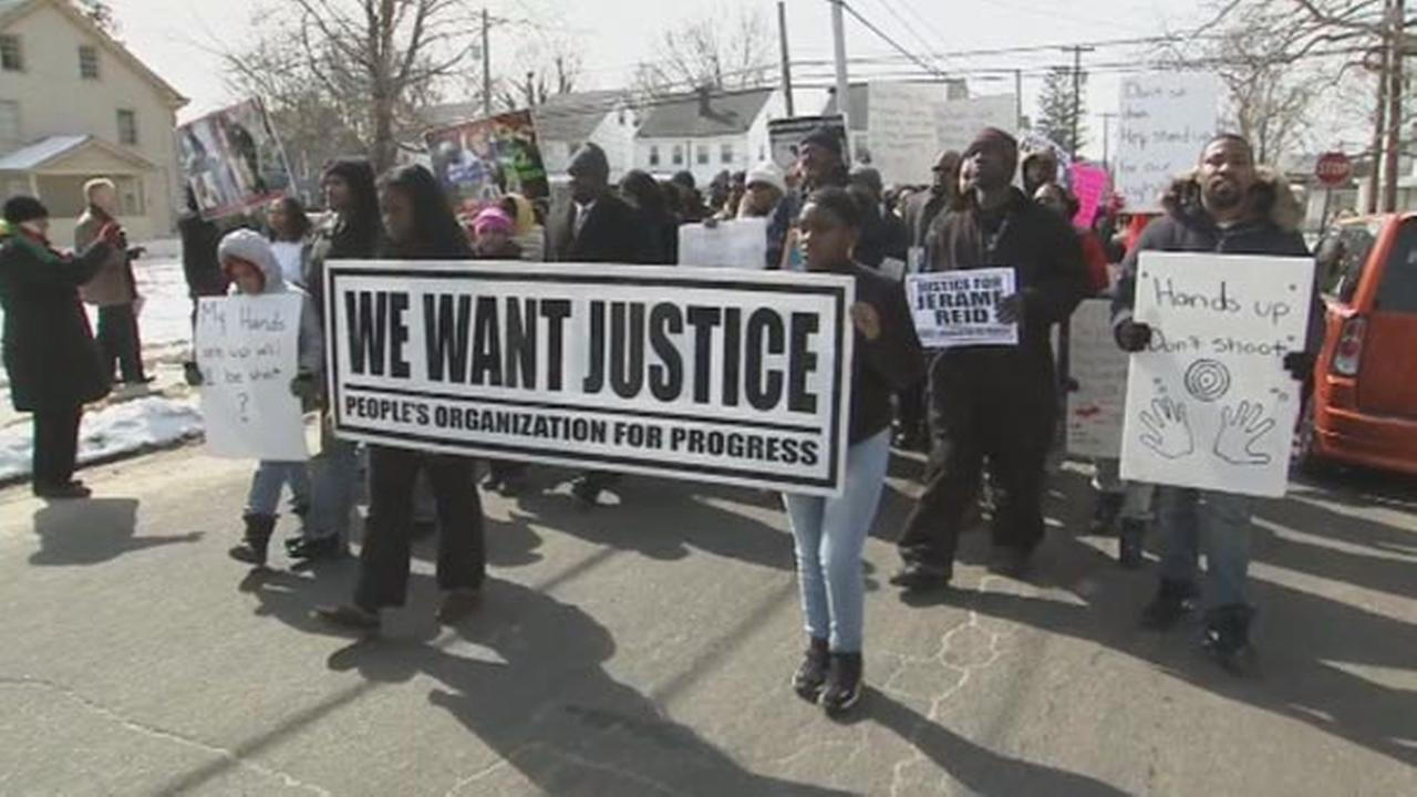 Roughly 200 people gather to protest fatal police shooting