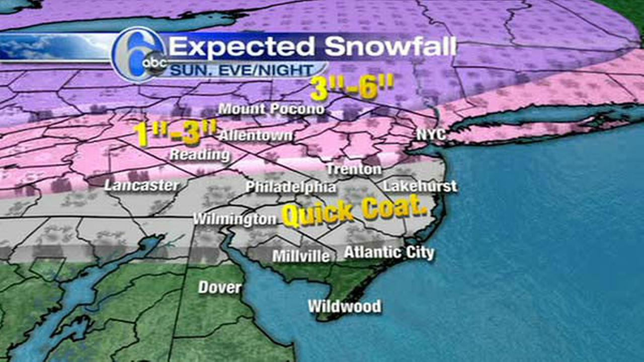 ACCUWEATHER MAPS: Sundays snow-ice mix