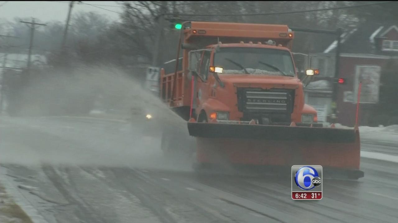 VIDEO: Ice causing treacherous travel conditions