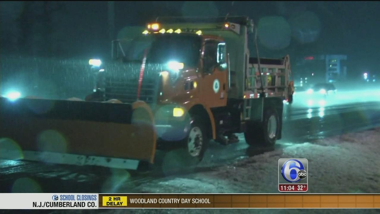 VIDEO: Ice causing treacherous travel conditions