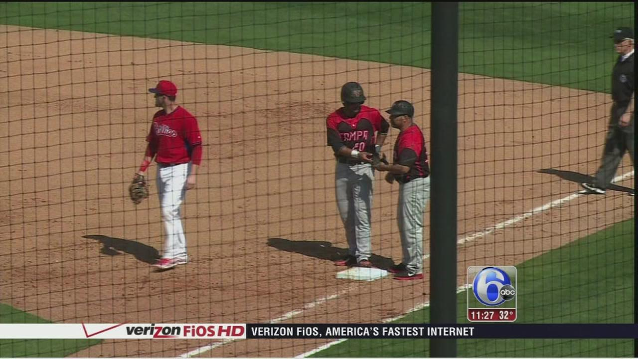 VIDEO: Phillies lose Spring Training game to college team