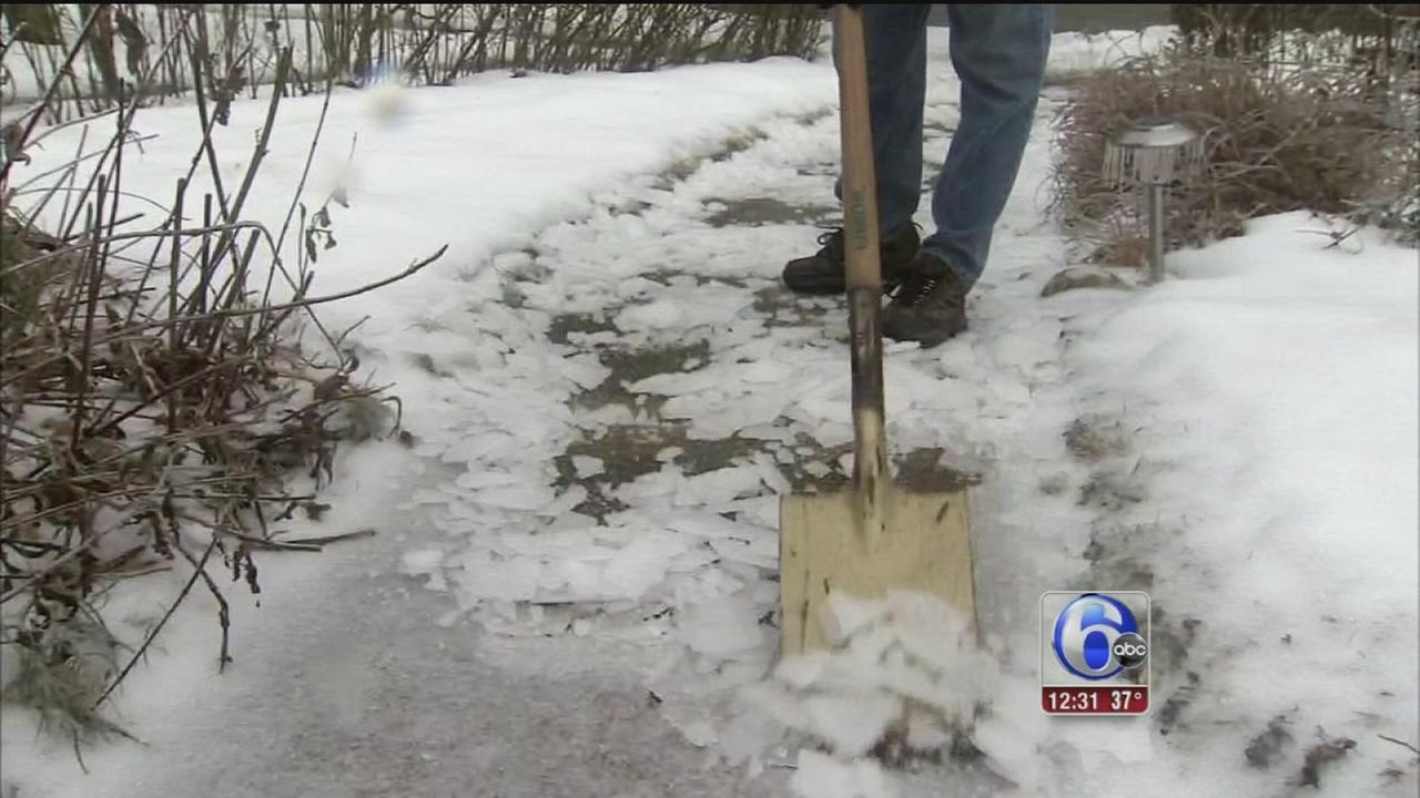 VIDEO: Icy roads, sidewalks lead to school delays