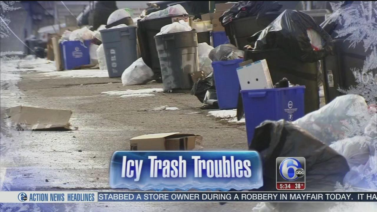 VIDEO: Icy trash troubles