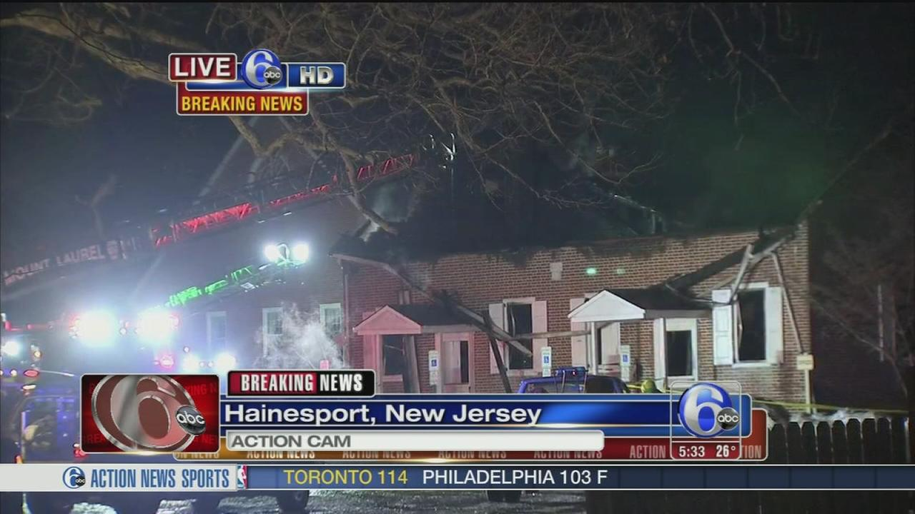 VIDEO: Fire ravages church in Hainesport, NJ