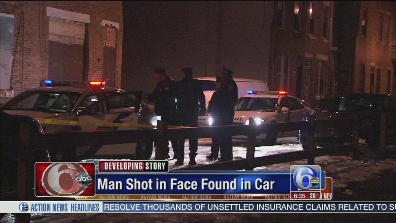 VIDEO: Man shot in face in North Phila.