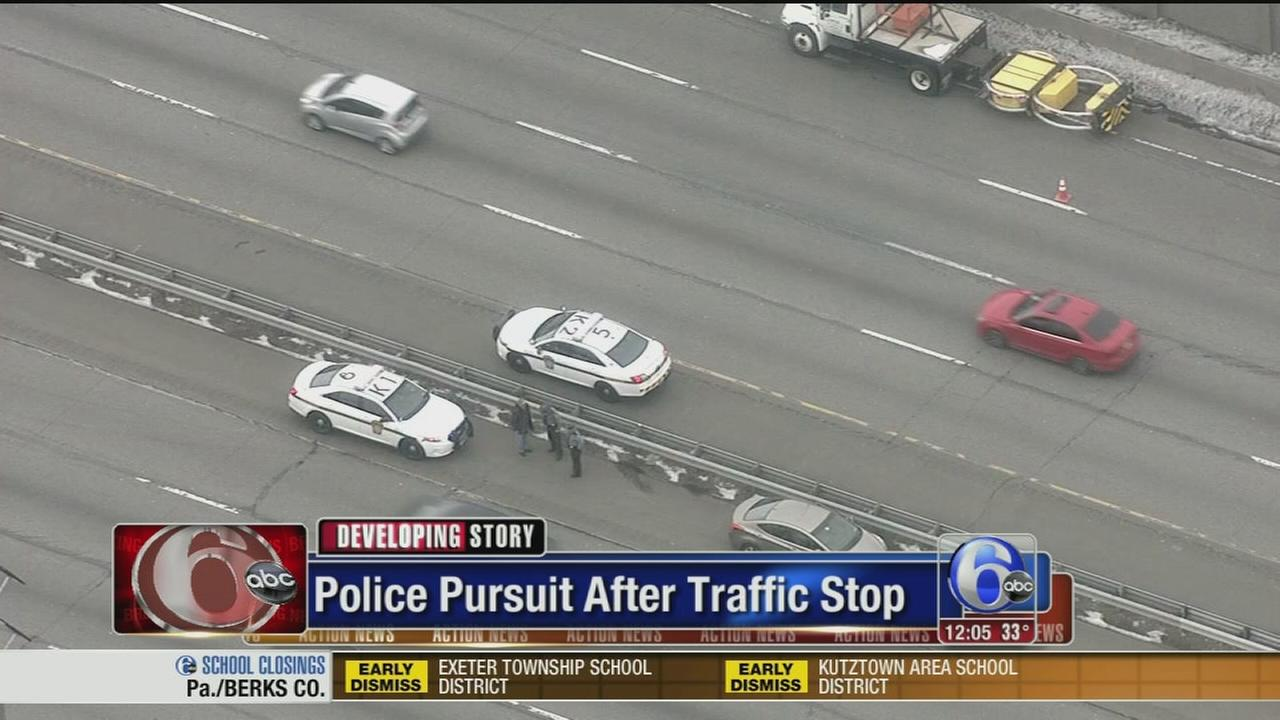 VIDEO: Police pursuit after traffic stop