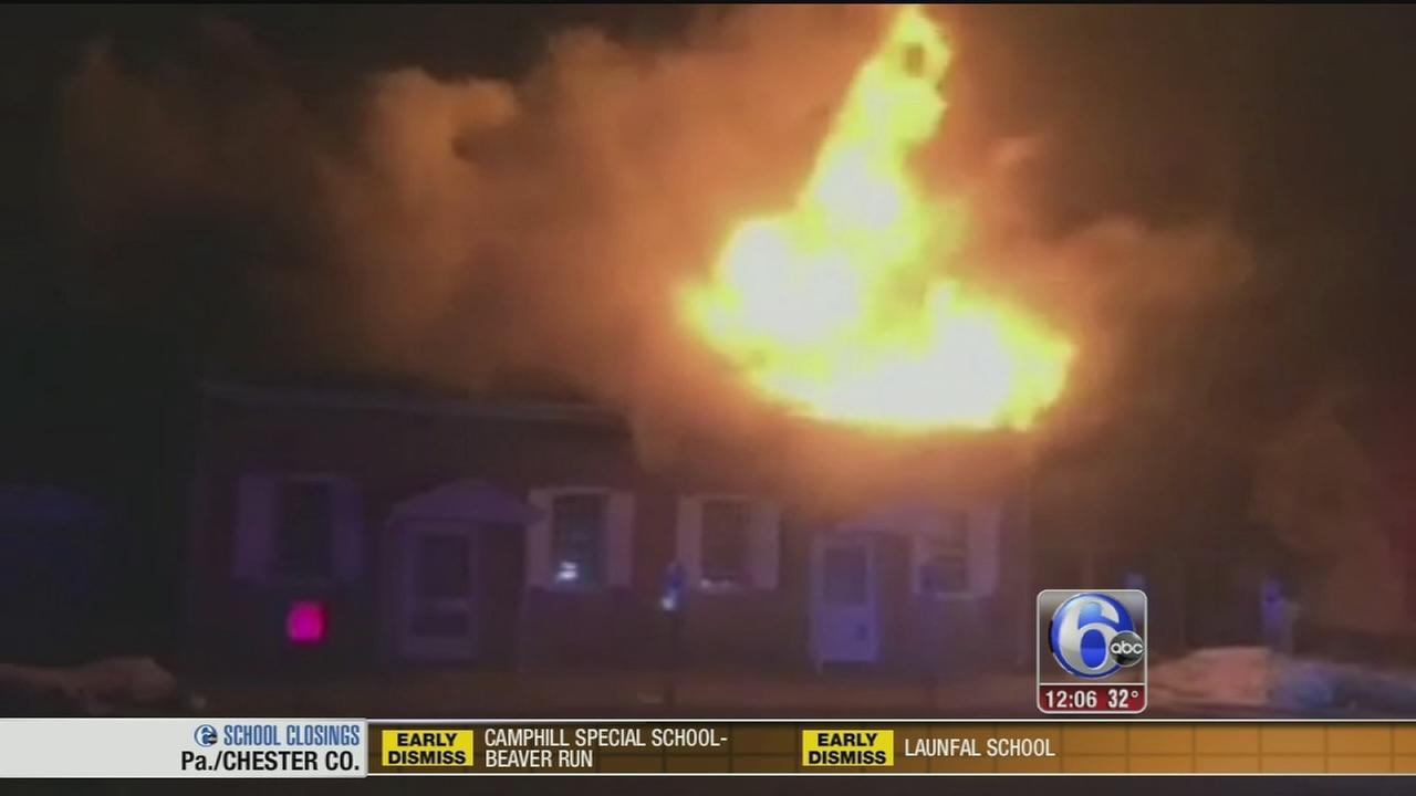 VIDEO: Fire ravages historic church in Hainesport, NJ