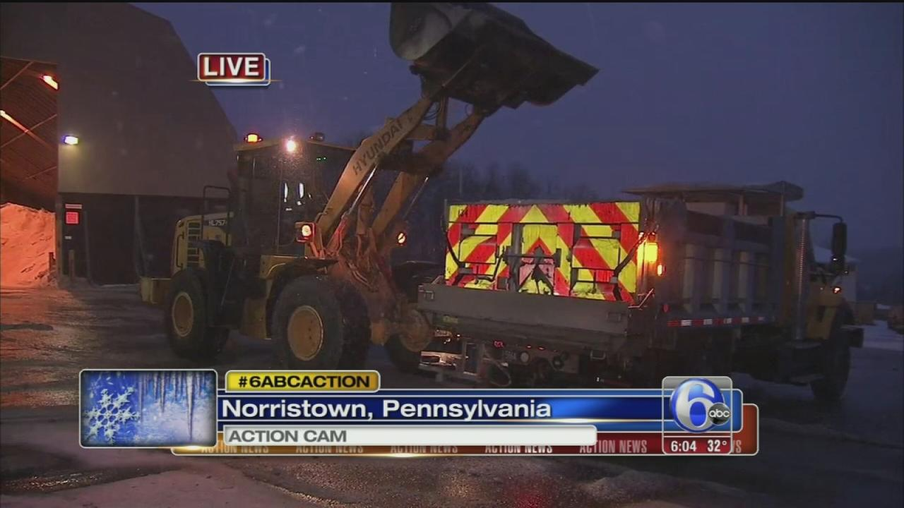 VIDEO: Chad Pradelli reports from PennDOT yard in Norristown