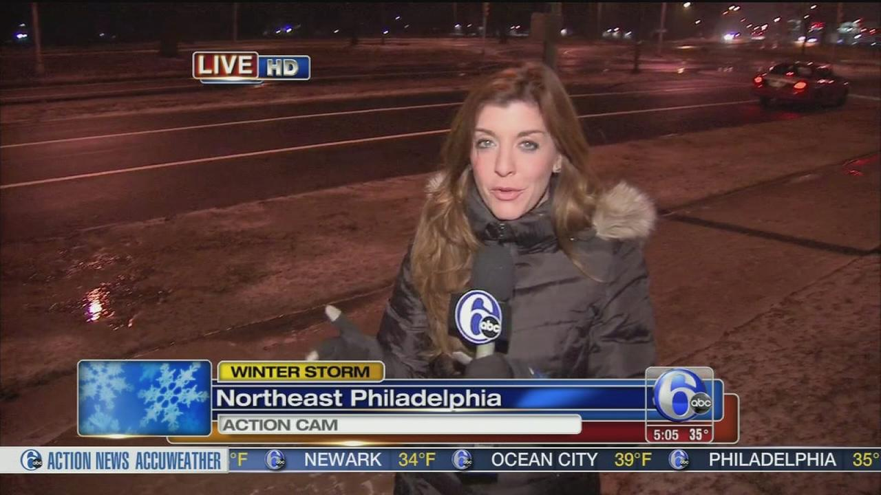 VIDEO: Annie McCormick reports on ice, rain and snow