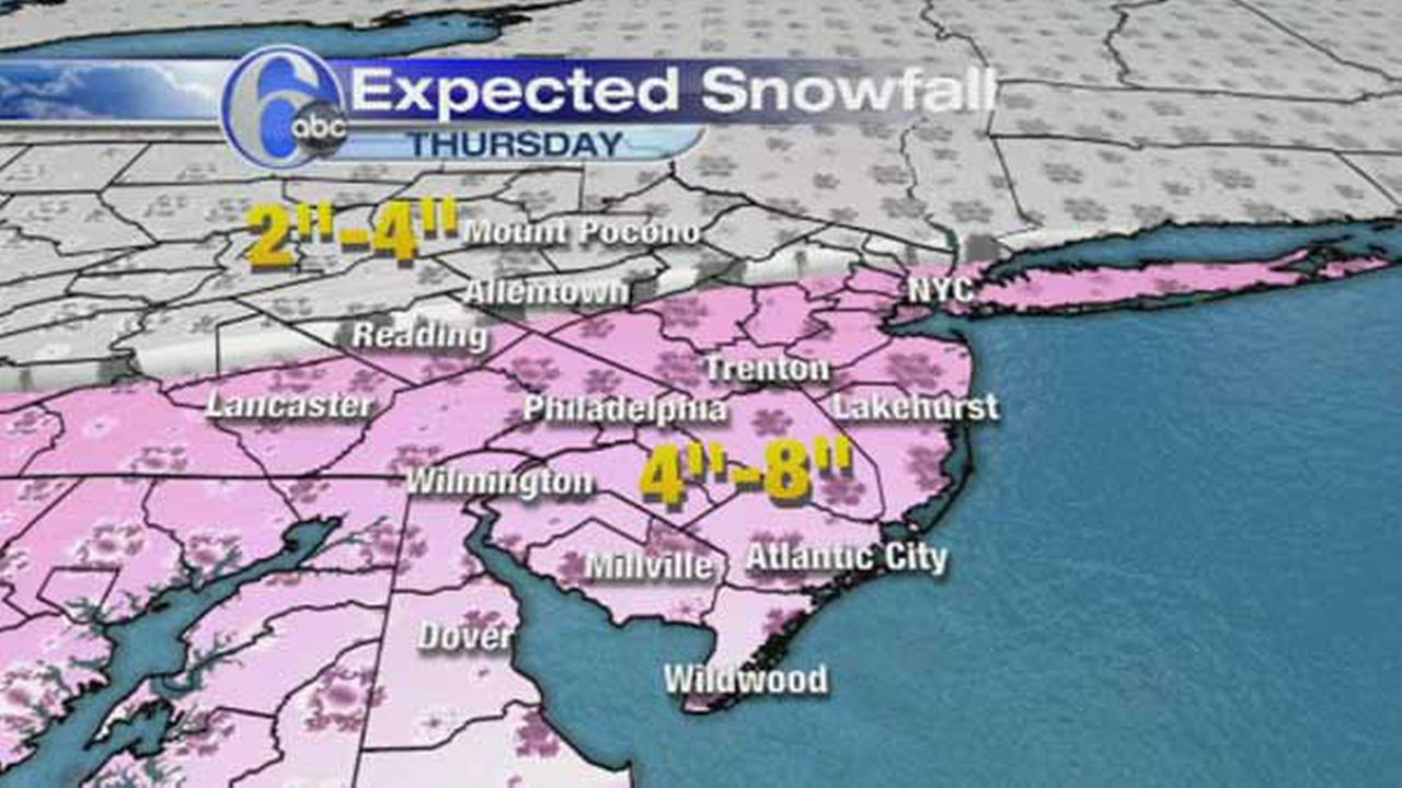 ACCUWEATHER MAPS: Thursday snow update