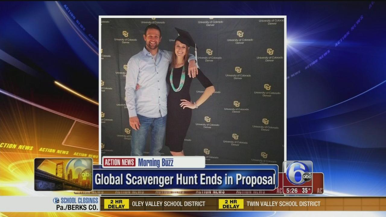 VIDEO: Global scavenger hunt ends in proposal