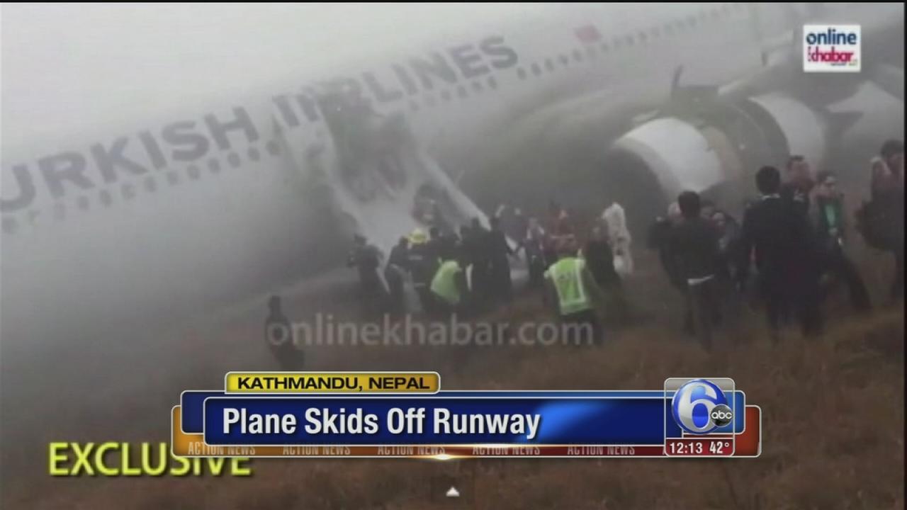 VIDEO: Plane skids off runway in Nepal