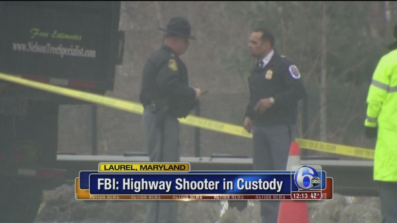 VIDEO: Maryland shootings suspect arrested