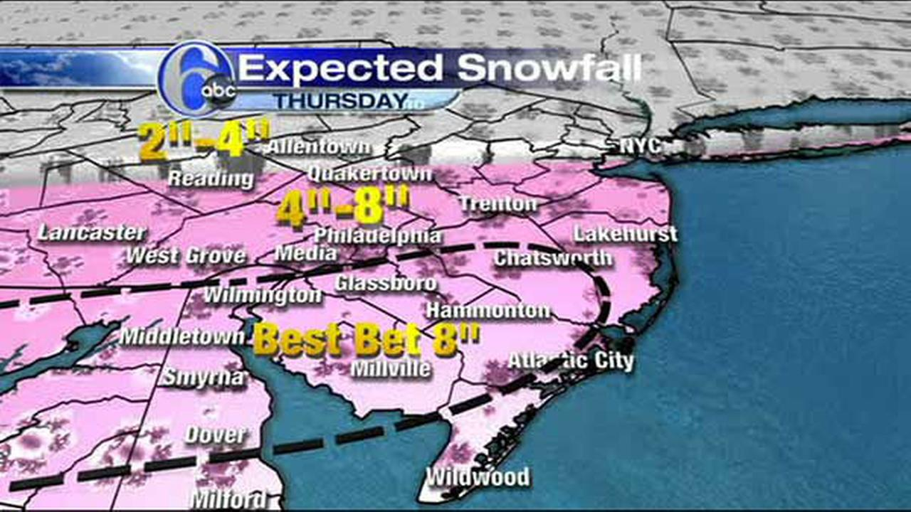 ACCUWEATHER MAPS: Thursday?s snow