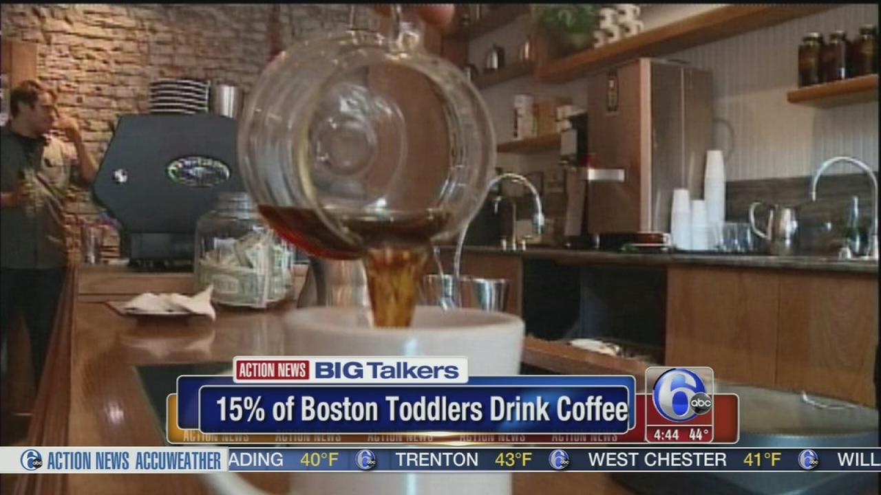 VIDEO: Toddlers drink coffee