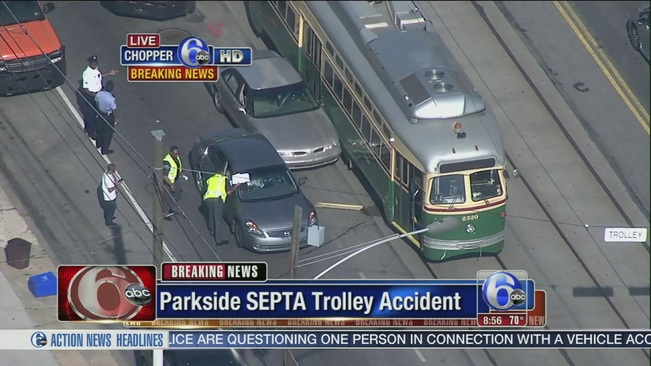 VIDEO: SEPTA trolley accident in Parkside