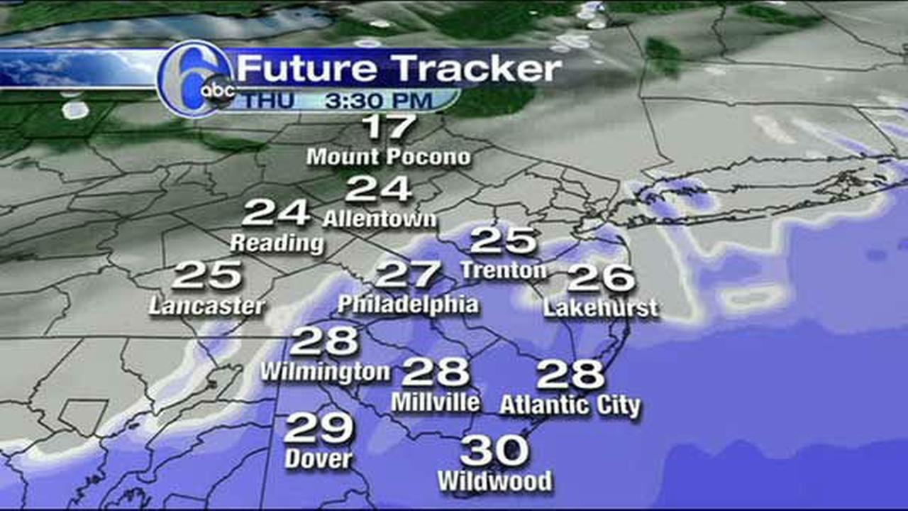 ACCUWEATHER MAPS Thursday39s snow 6abccom