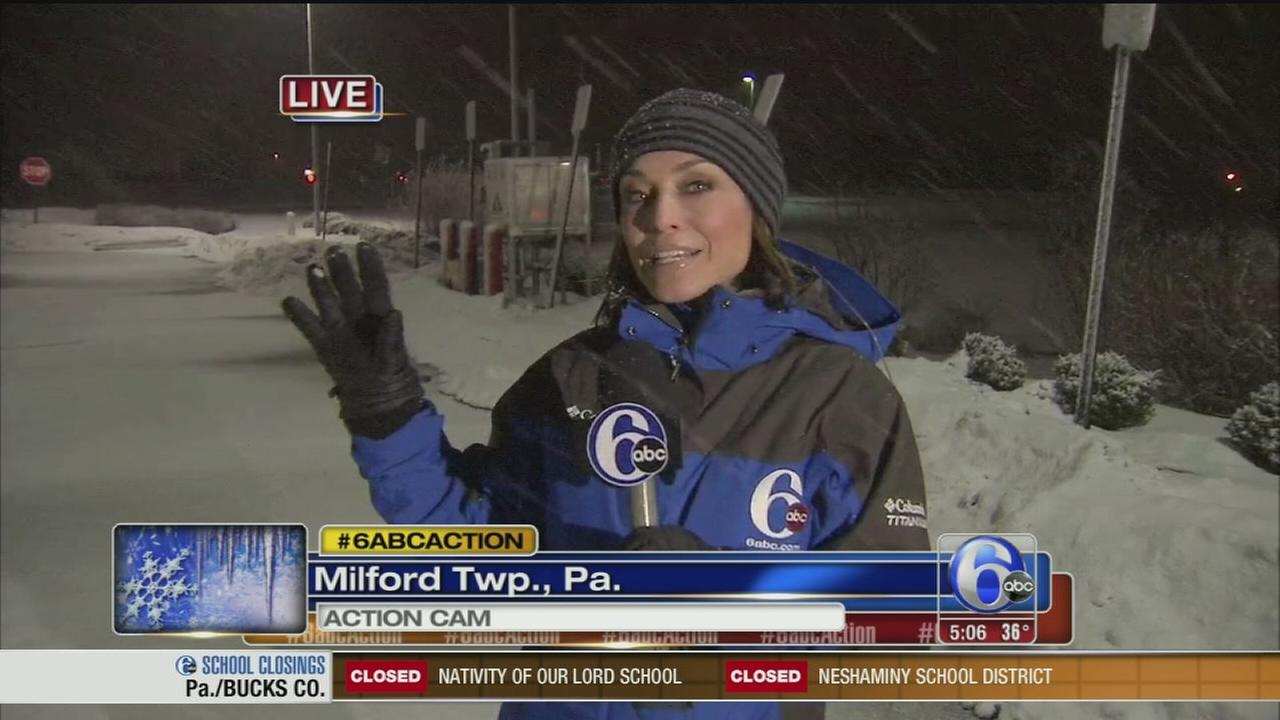 VIDEO: Erin OHearn reports on snow in Milford Township