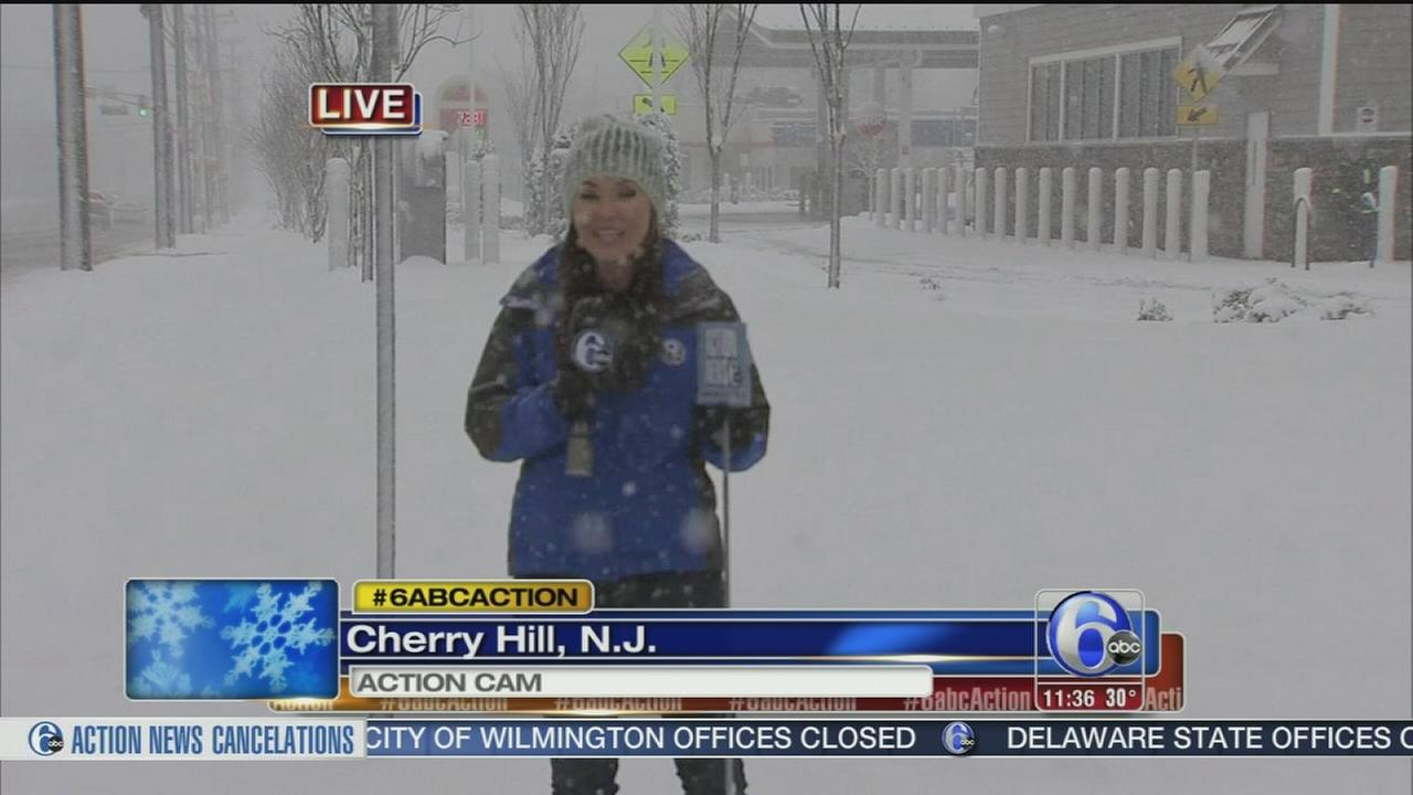 VIDEO: Eva Pilgrim reports on snow in Cherry Hill