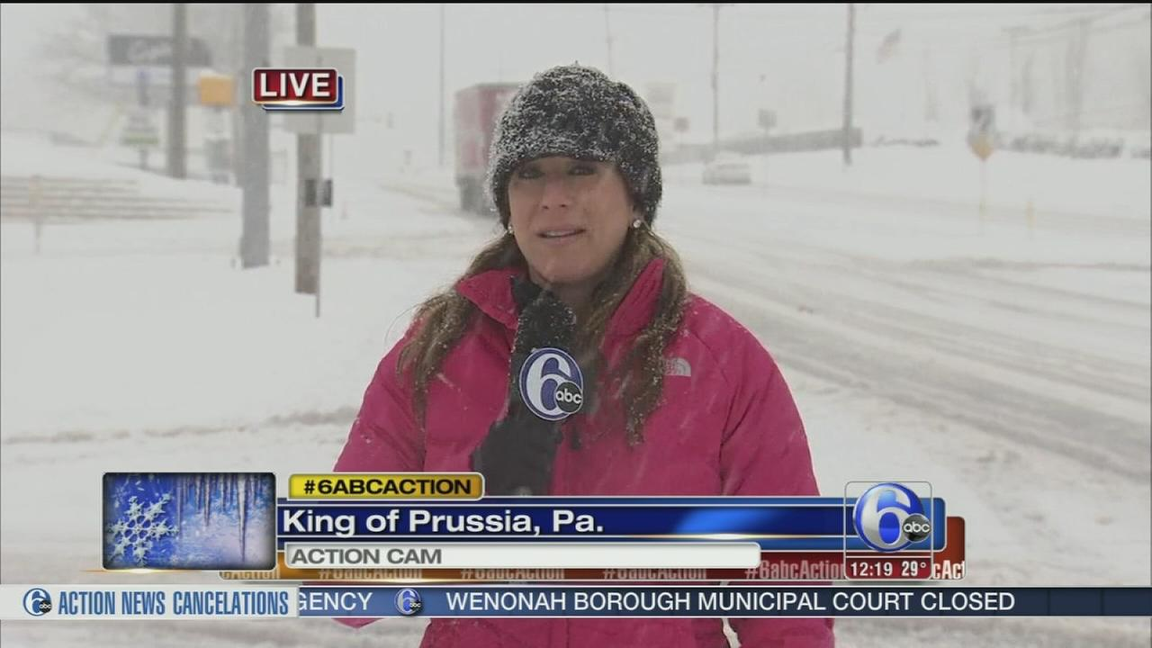 VIDEO: Wendy Saltzman reports on snow in King of Prussia