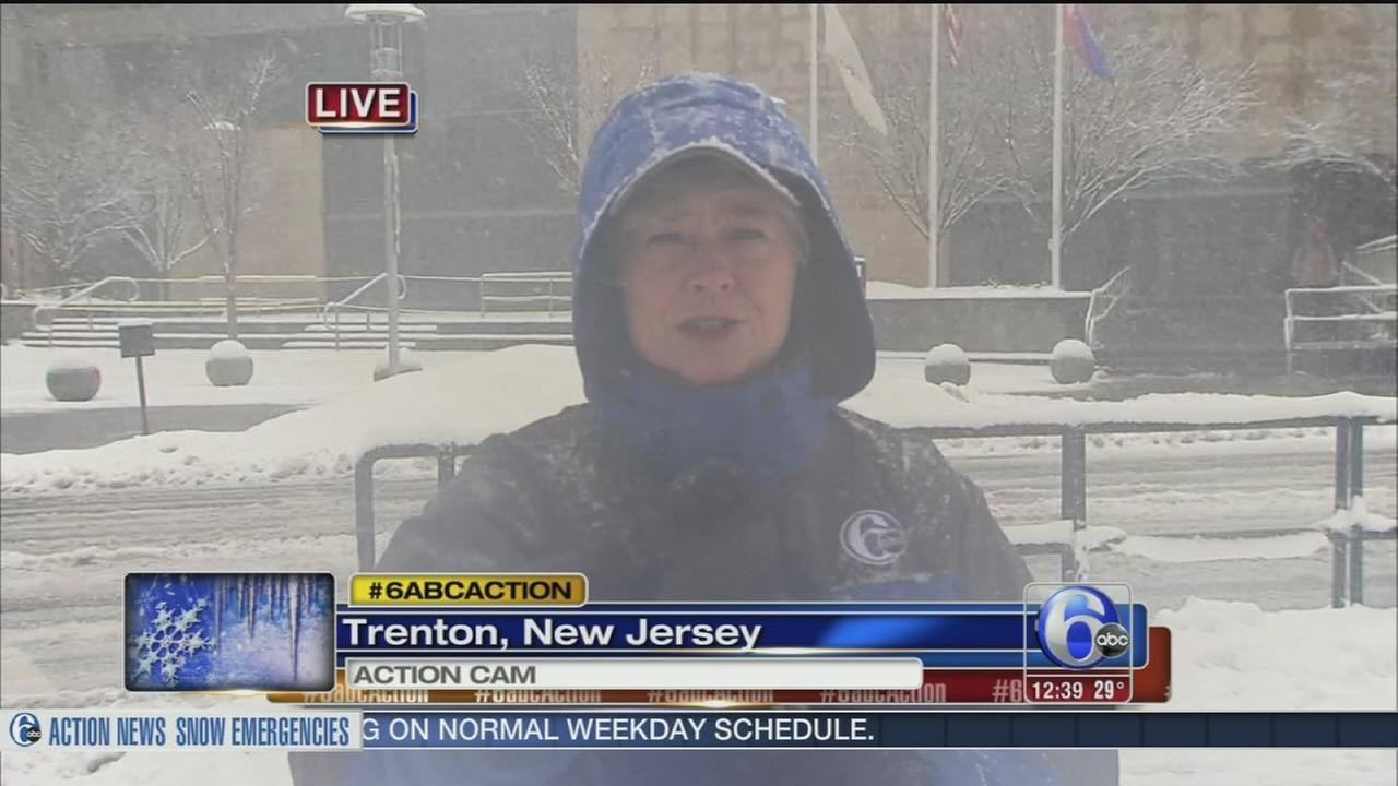 VIDEO: Nora Muchanic reports on snow in Trenton