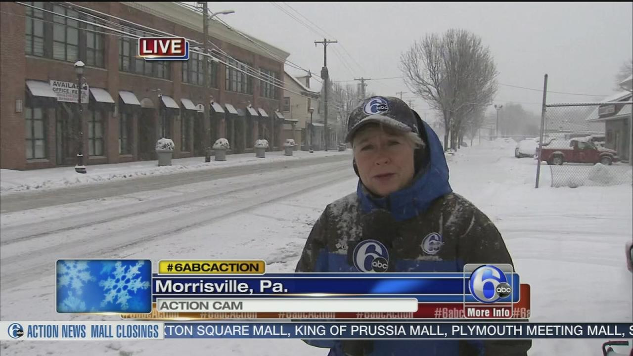VIDEO: Nora Muchanic reports on conditions in Bucks Co.
