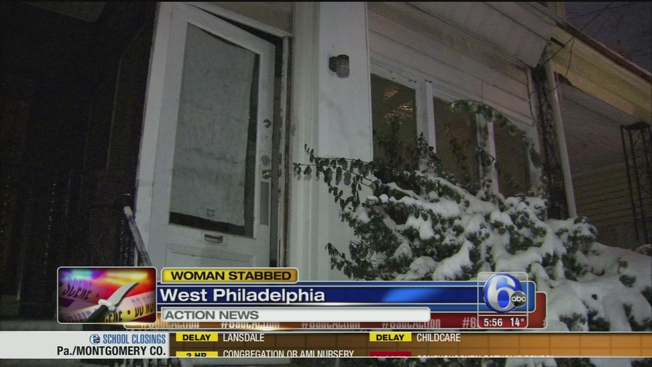 VIDEO: Woman stabbed in West Philadelphia