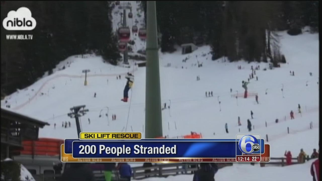 VIDEO: Ski lift rescue