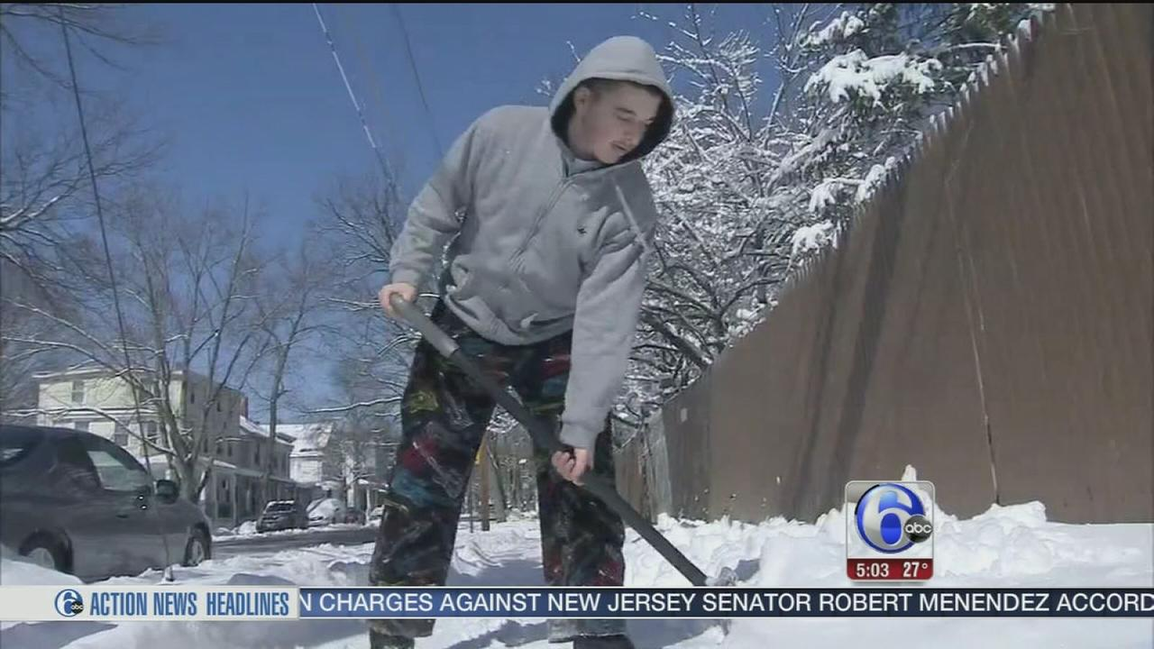 VIDEO: Digging out after the snow in Mt. Holly
