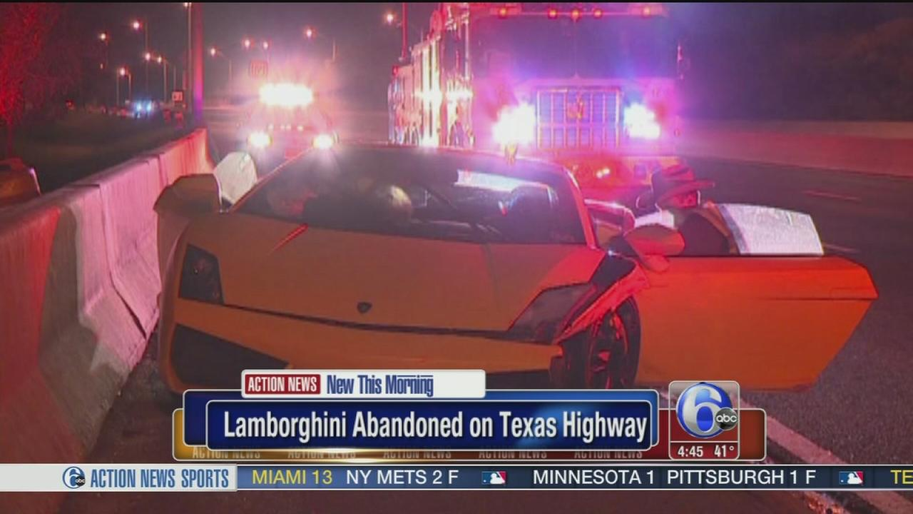 VIDEO: Lamborghini abandoned on Texas highway