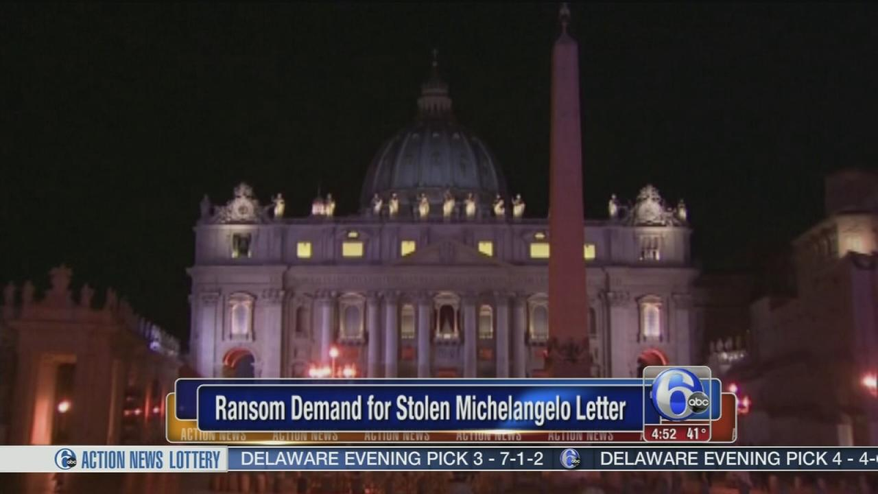 VIDEO: Ransome demand for stolen Michelangelo letter