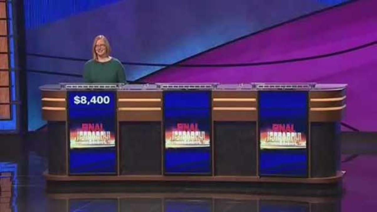 Kristin Sausville was the lone competitor during Thursday nights Final Jeopardy! round.
