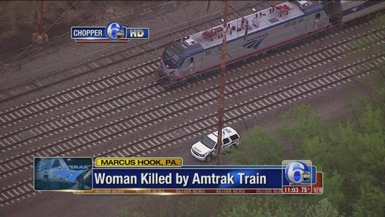 Pedestrian killed by Amtrak train in Marcus Hook