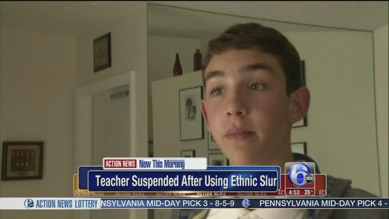 VIDEO: Teacher suspended after using ethnic slur