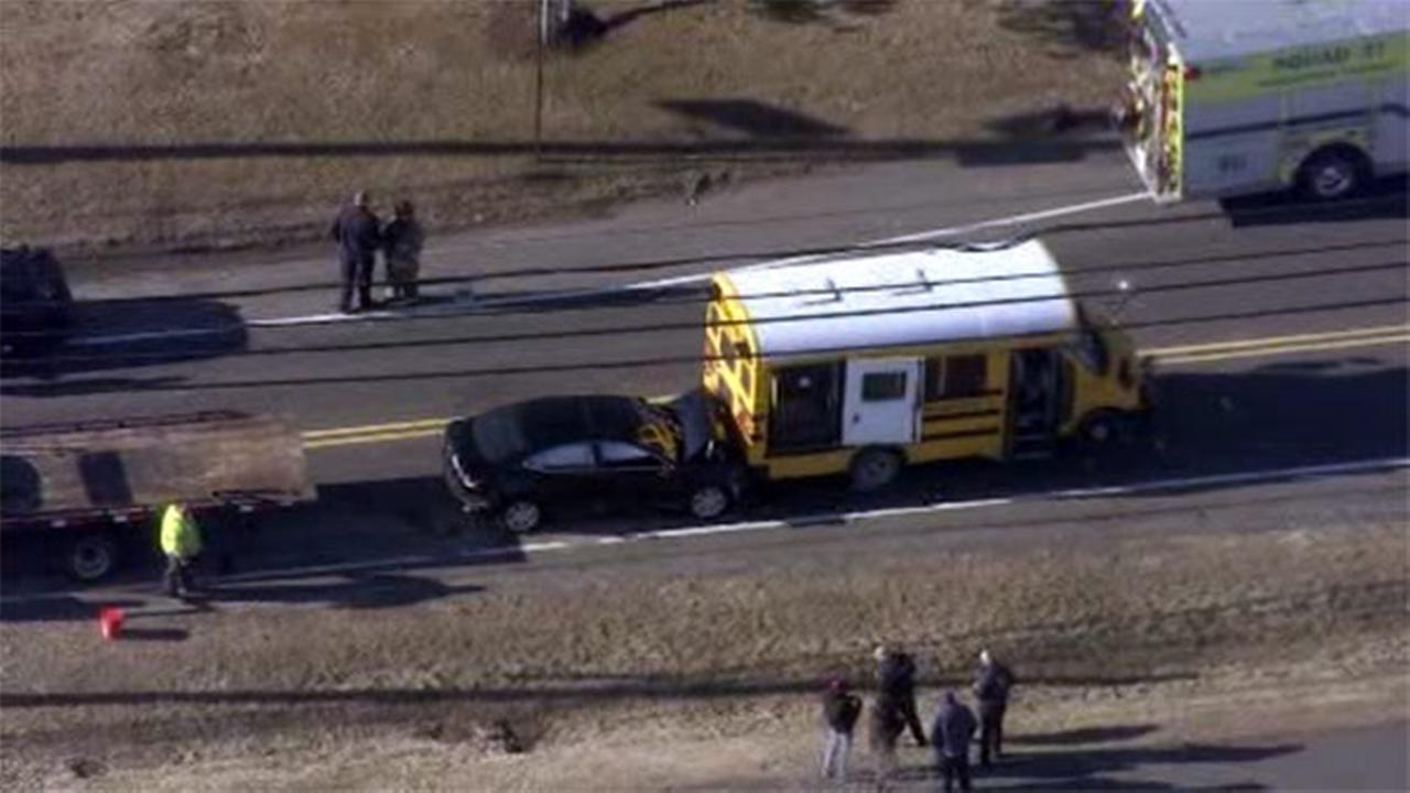 10 injured in school bus involved crash in Burlington County