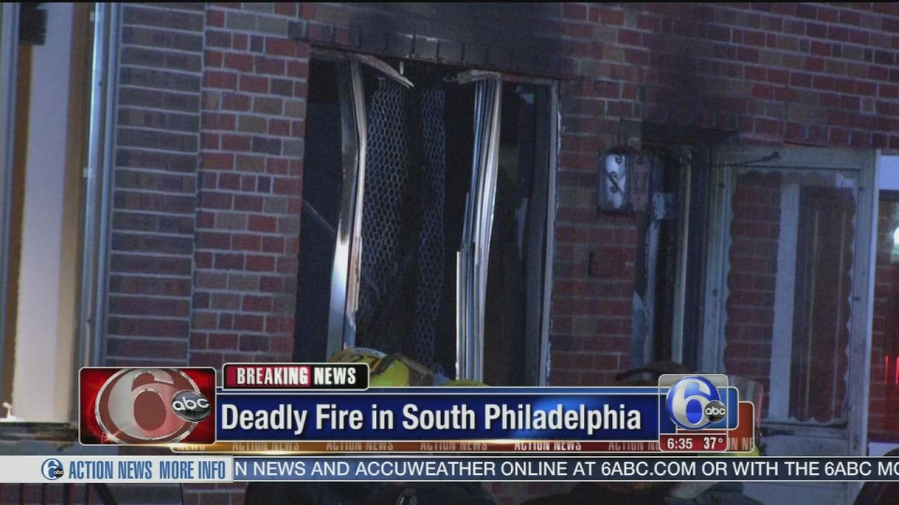 VIDEO: Elderly man dies in house fire in South Philadelphia