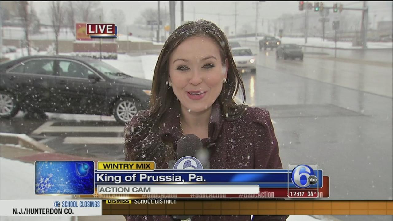 VIDEO: Eva Pilgrim reports on the wintry mix in King of Prussia