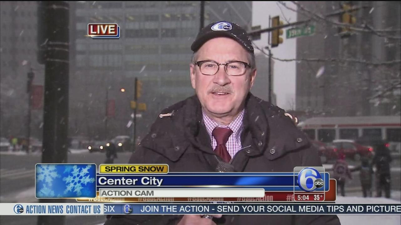 VIDEO: David Henry reports on snow in Center City