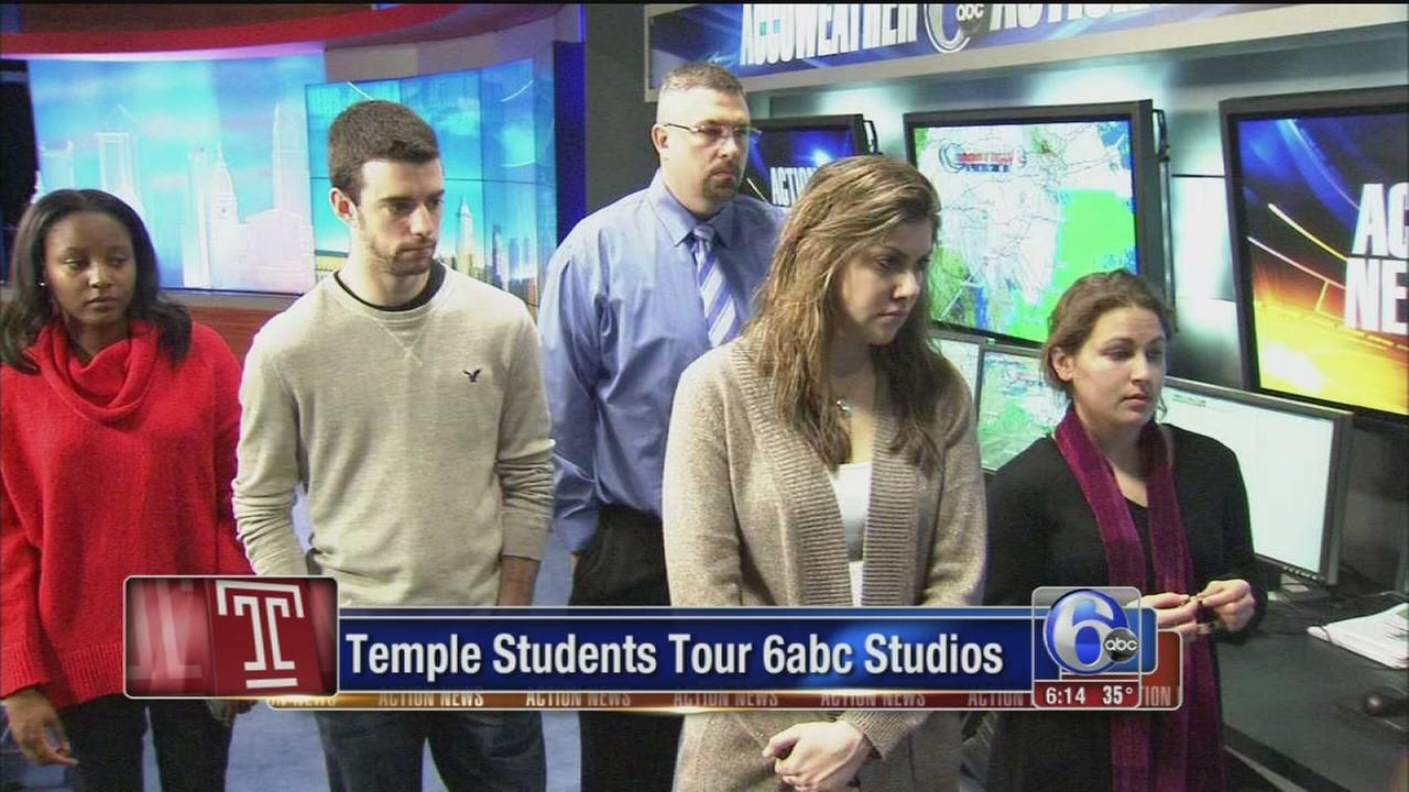 VIDEO: Temple students visit 6abc studios