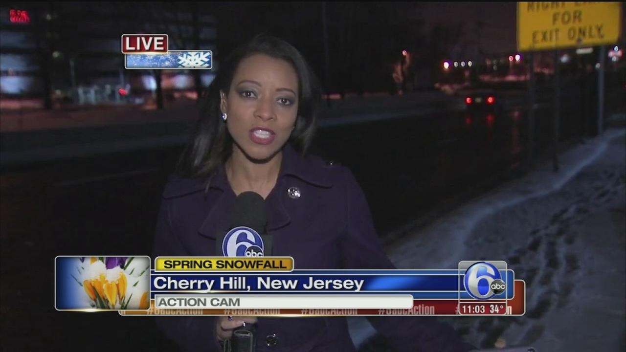 VIDEO: Sharrie Williams reports on spring snow