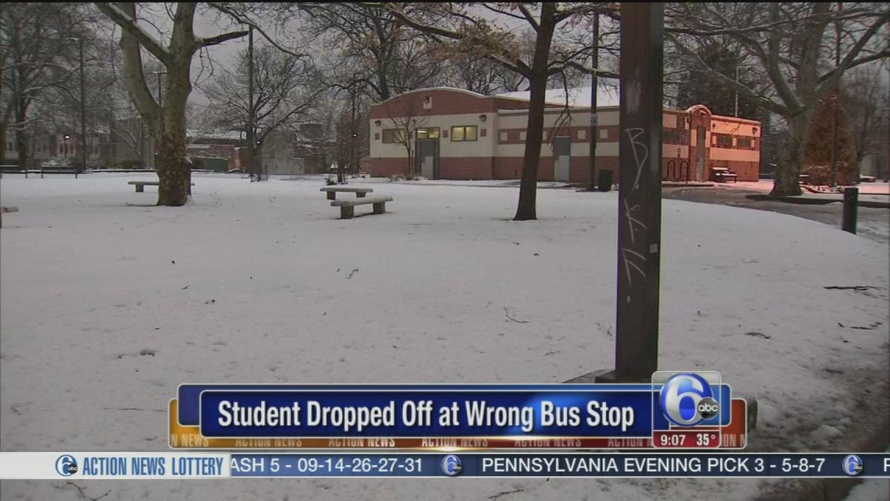VIDEO: Student dropped off at wrong bus stop in South Philly